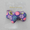 Fashionable Hair Ornament with Fimo, Bowknot 31x21mm, Sold by Group