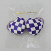 Fashionable Hair Ornament with Fimo, Heart 26x22mm, Sold by Group