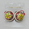 Fashionable Hair Ornament with Resin & Fimo, Flat Round 27mm, Sold by Group