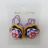 Fashionable Hair Ornament with Resin & Fimo, Flower 27mm, Sold by Group