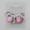 Fashionable Hair Ornament with Resin & Fimo, Star 26mm, Sold by Group