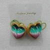 Fashionable Hair Ornament with Resin & Fimo, Heart 28mm, Sold by Group