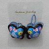 Fashionable Hair Ornament with Resin & Fimo, Butterfly 28x28mm, Sold by Group