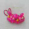 Fashionable Hair Ornament with Resin, Animal Head 28x28mm, Sold by Group