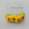 Fashionable Hair Ornament with Resin, Cat Head 32x23mm, Sold by Group