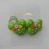 Fashionable Hair Ornament with Resin, Animal Head 33x28mm, Sold by Group