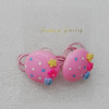 Fashionable Hair Ornament with Resin, Flat Round 26mm, Sold by Group