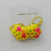 Fashionable Hair Ornament with Resin, Flower 28mm, Sold by Group