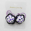 Fashionable Hair Ornament with Resin & Fimo, Flower 28mm, Sold by Group