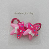 Fashionable Hair Ornament with Resin, Star 31mm, Sold by Group