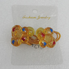 Fashionable Hair Ornament with Acrylic, Butterfly 23x21mm, Sold by Group