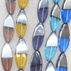 Electroplate Glass Beads, Horse eye, 12x30mm, Hole Approx:1mm, Sold per 16-inch Strand