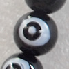 Glass Beads, Round, 10mm, Hole Approx:1mm, Sold per 16-inch Strand