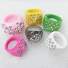 Resin Ring, 20-21mm, Mix color & Mix style, Ring:19mm inner diameter, Sold by Box