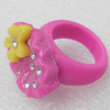 Resin Ring, 18x25mm, Ring:19mm inner diameter, Sold by Box