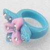 Resin Ring, 20x25mm, Ring:19mm inner diameter, Sold by Box