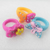 Resin Ring, 19-25mm, Mix color & Mix style, Ring:19mm inner diameter, Sold by Box