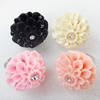 Iron Ring with Resin, 34mm, Mix color, Ring:18mm inner diameter, Sold by Box
