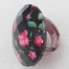 Resin Ring, 33mm, Ring:19mm inner diameter, Sold by Box