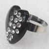 Iron Ring, 25x23mm, Ring:18mm inner diameter, Sold by Box