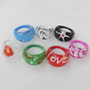 Resin Ring, 25x23-30mm, Mix color & Mix style, Ring:18mm inner diameter, Sold by Box