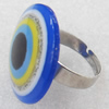 Iron Ring with Resin, 25mm, Ring:18mm inner diameter, Sold by Box