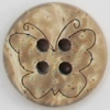 Coconut Shell Button, 12mm, Hole:Approx 2mm, Sold by Bag