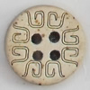 Coconut Shell Button, 15mm, Hole:Approx 2mm, Sold by Bag