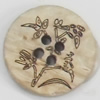 Coconut Shell Button, 20mm, Hole:Approx 2mm, Sold by Bag