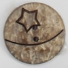 Coconut Shell Button, 30mm, Hole:Approx 2mm, Sold by Bag