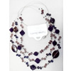 Fashionable Necklaces Steel Wire with Acrylic Beads, Necklaces:about 35.5-inch long, Sold by Strand