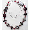 Fashionable Necklaces Cotton wax cord with Acrylic Beads, Necklaces:about 35.5-inch long, Sold by Strand