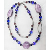 Fashionable Necklaces with Ceramics Beads, Necklaces:about 35.5-inch long, Sold by Strand