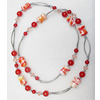 Fashionable Necklaces with Lampwork Glass Beads, Necklaces:about 35.5-inch long, Sold by Strand