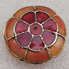 Cloisonne Beads, Flat Round 19x7mm Hole:1.5mm, Sold by PC