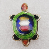 Cloisonne Beads, Tortoise 14x20x5mm Hole:1.5mm, Sold by PC