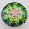 Cloisonne Beads, Flat Round 20x7mm Hole:1.5mm, Sold by PC