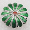 Cloisonne Beads, Flower 18x7mm Hole:1.5mm, Sold by PC