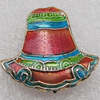 Cloisonne Beads, 20x20x6mm Hole:1.5mm, Sold by PC