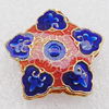 Cloisonne Beads, Star 20x8mm Hole:1.5mm, Sold by PC