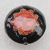 Cloisonne Beads, Flat Round 19x8mm Hole:1.5mm, Sold by PC
