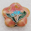 Cloisonne Beads, Flower 20x8mm Hole:1.5mm, Sold by PC
