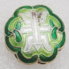 Cloisonne Beads, Flower 18x9mm Hole:1.5mm, Sold by PC