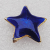 Cloisonne Beads, Star 18x5mm Hole:1.5mm, Sold by PC