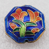 Cloisonne Beads, Polygon 19x8mm Hole:1.5mm, Sold by PC