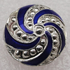 Cloisonne Beads, Flat Round 15x10mm Hole:1.5mm, Sold by PC