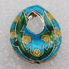 Cloisonne Beads, Teardrop 17x20x6mm Hole:1.5mm, Sold by PC