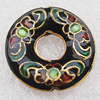 Cloisonne Beads, Donut O:20mm I:6mm Hole:1.5mm, Sold by PC