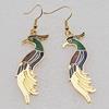 Cloisonne Earrings, Animal 49x14mm, Sold by Dozen