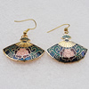 Cloisonne Earrings, Sectory 32x27mm, Sold by PC